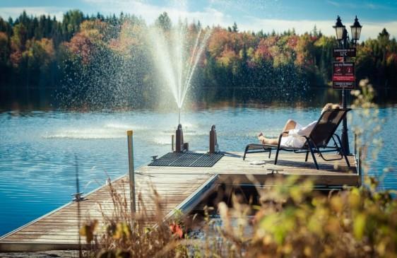 NRJ Spa Nordique - Quai en automne