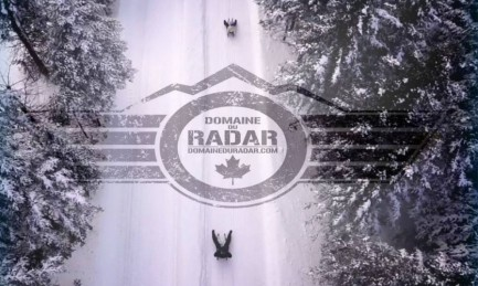 Sledding at Domaine du Radar !