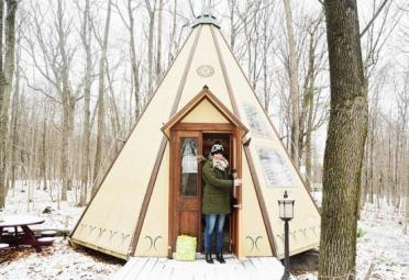 Glamping & airplane winter package - Maisons du Grand Héron - Auberge-Restaurant