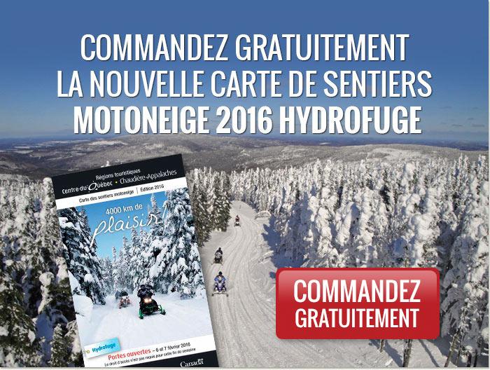 Commandez gratuitement la nouvelle carte des sentiers motoneige 2014 hydrofuge.
