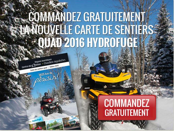 Commandez gratuitement la nouvelle carte des sentiers quad 2015 hydrofuge.