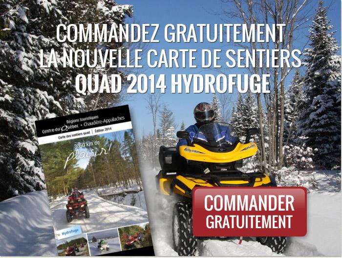 Commandez gratuitement la nouvelle carte des sentiers quad 2014 hydrofuge.