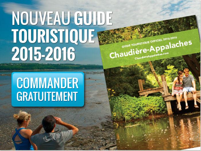 Commandez gratuitement le nouveau guide touristique officiel de Chaudière-Appalaches 2015-2016.