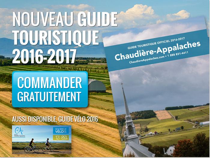 Commandez gratuitement le nouveau guide touristique officiel de Chaudière-Appalaches 2016-2017.