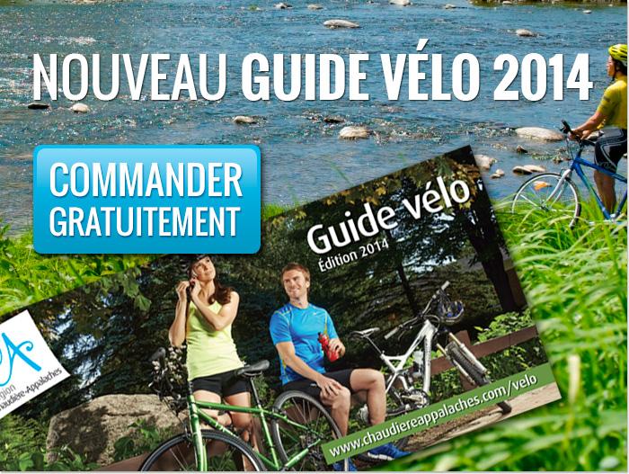 Commandez gratuitement le nouveau guide vélo de Chaudière-Appalaches 2014.
