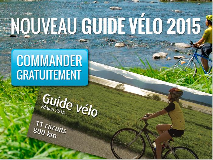 Commandez gratuitement le nouveau guide vélo de Chaudière-Appalaches 2015.