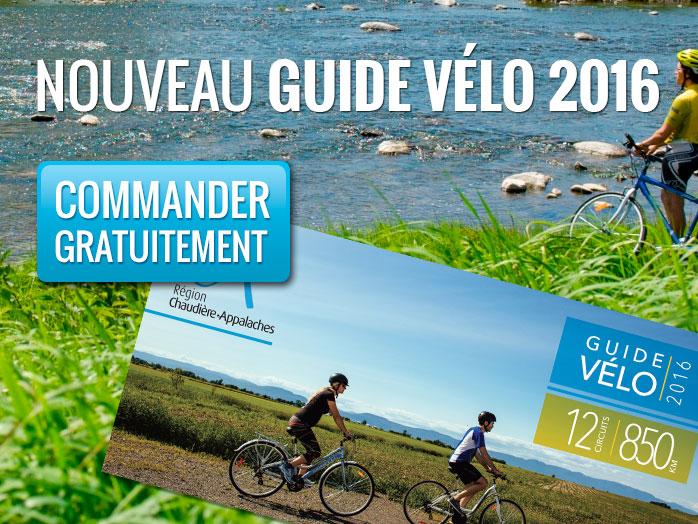 Commandez gratuitement le nouveau guide vélo de Chaudière-Appalaches 2016.